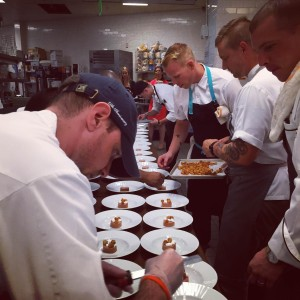 F&C chefs plating Wit