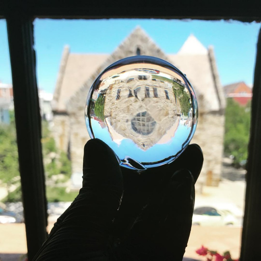 clear ice sphere